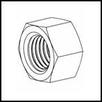 Metric Nylon Hex Nuts-DIN34814