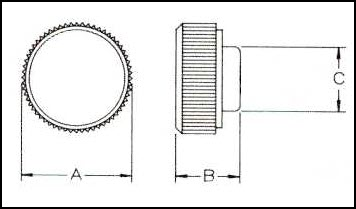 Standard Round Head Knob Diagrammatic